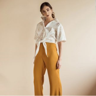 White fronttie blouse